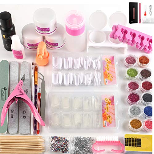 Coscelia Acrylic Nail Kit Acrylic Powder and Liquid Kit with Electric Nail Drill Machine