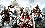 Csysak Puzzle 1000 Piezas - Póster de Assassin'S Creed - Rompecabezas Impossible para Toda la Familia, Rompecabezas de Madera para Adultos Colorido