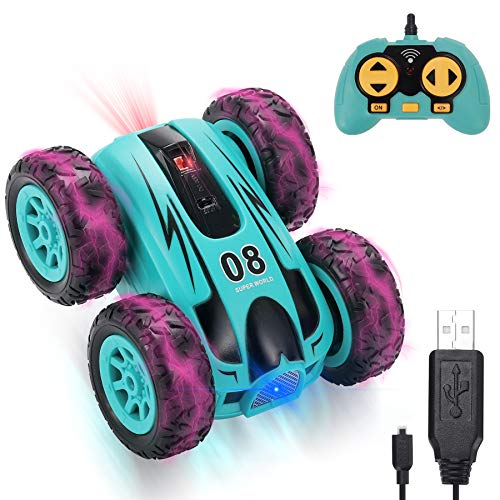 YAYOSUE RC Stunt Car Toy, Stunt Roller Mini Remote Control Car for Kids with 2 Sided 360 Rotation Fast Mini Stunt 4WD RC Car for Boy Girl, All Terrain RC Crawler, 2.4 GHZ Remote Control, Rechargeable