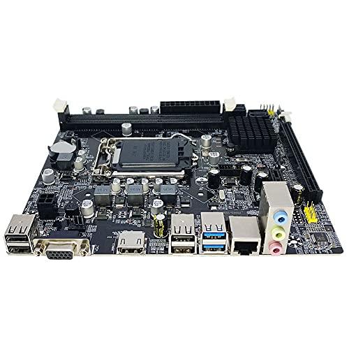 Mengdie Placa base ATX CPU i7/i5/i3 Intel B75 LGA 1155 Socket H2 DDR3 16 GB para computadora de escritorio