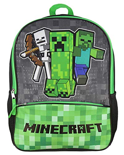 Minecraft Shimmer Pixel Characters 16' Backpack