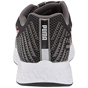 PUMA Men's Speed SUTAMINA 2 Running Shoe, Black-Lava Blast, 10.5