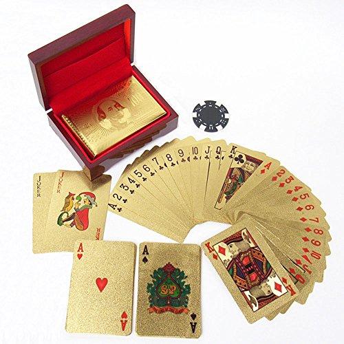 RedBeryl トランプ ゴールド プラスチック 専用ケース付 金 (GOLD 100ドル札)