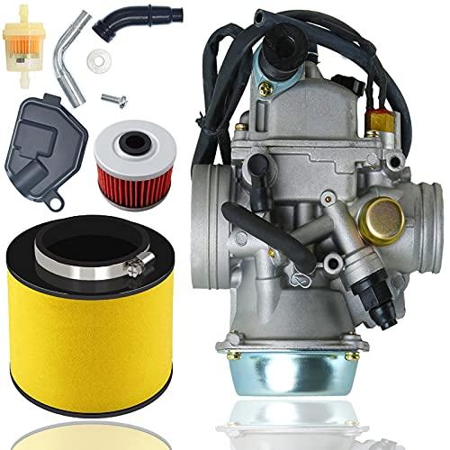 TRX350 Carburetor + Oil Filterw/Air Filter for Rancher 350 TRX350 350ES 350FE 350FMTE 350TM...