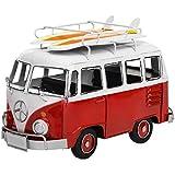 MyGift Handmade Retro 1962 Classic Volkswagen Bus Model, Red