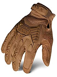 small Ironclad EXOT-ICOY-03-M Tactical Operator Shock Gloves, Coyote Brown, Medium