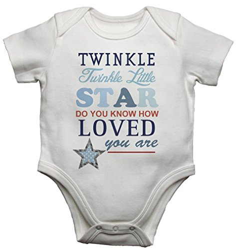 Twinkle Twinkle Little Star Mooie baby jongens vest body baby grow (3-6 maanden)