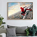 tzxdbh Affiches Spiderman Canvas Wall Prints Spider Man Far from Home Film Pictures...