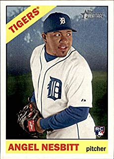 2015 Topps Heritage #508 Angel Nesbitt RC DETROIT TIGERS ROOKIE