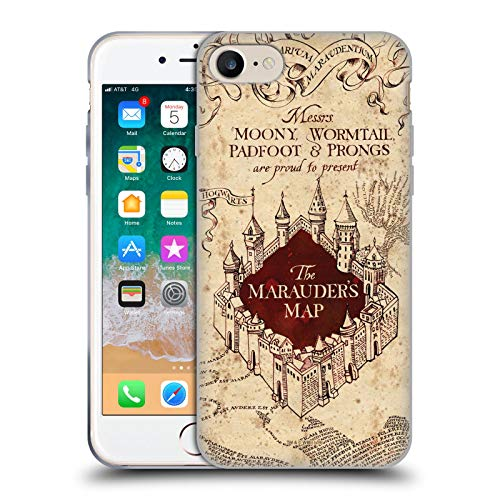 Head Case Designs Ufficiale Harry Potter The Marauder's Map Prisoner of Azkaban II Cover in Morbido Gel Compatibile con Apple iPhone 7 / iPhone 8 / iPhone SE 2020