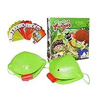yarui おもちゃ 親子ゲーム カメレオン カメレオン舌ゲーム ボードゲーム キャッチバグゲーム 番号カード