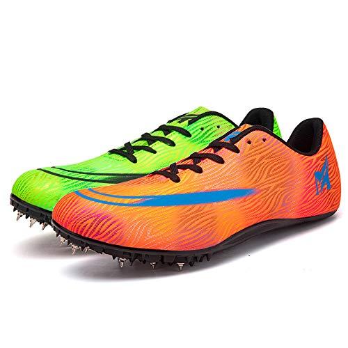 LYXIANG Zapatos Hombres Y Mujeres Atletismo, Running Shoes 8 Picos De Dos Colores Spikes Atletismo Velocidad Hombres Y Mujeres De Mediana De Longitud Salto De Longitud,E,40