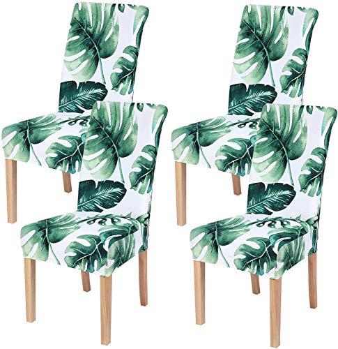 Homaxy Universal Stretch Stuhlhussen 2er 4er 6er Set Stuhlbezug für Stuhl Esszimmer (4er Set, Style 11)