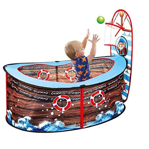 GAO-bo Tienda de campaña para niños Corsair Play Tienda para niños Pirate Ship Tienda Infantil Ocean Ball Ball Pool Play Fence Toy Tent House para niños