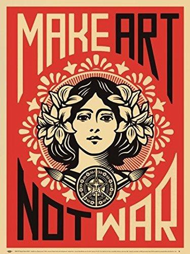 Shepard Fairey Poster – Kunst Machen Nicht Krieg Kunstdruck Poster, (91.5 x 60 cm)