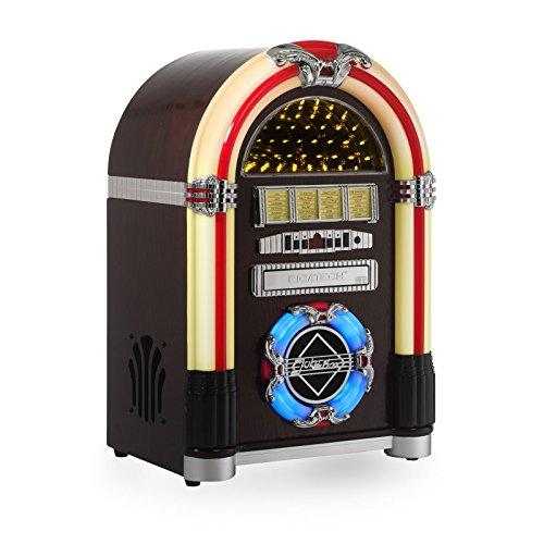 Ricatech RR792, Reproductor de CD Retro tocadiscos, Radio AM / FM, Soportes de...