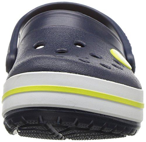 Crocs Kids' Crocband Clog K, Navy/Citrus, 13 UK Child 30/31 EU