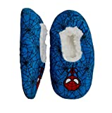 Disney Collection Toddler Boys Marvel Spider-Man Fuzzy Babba Slippers - Blue - (4T-5T)