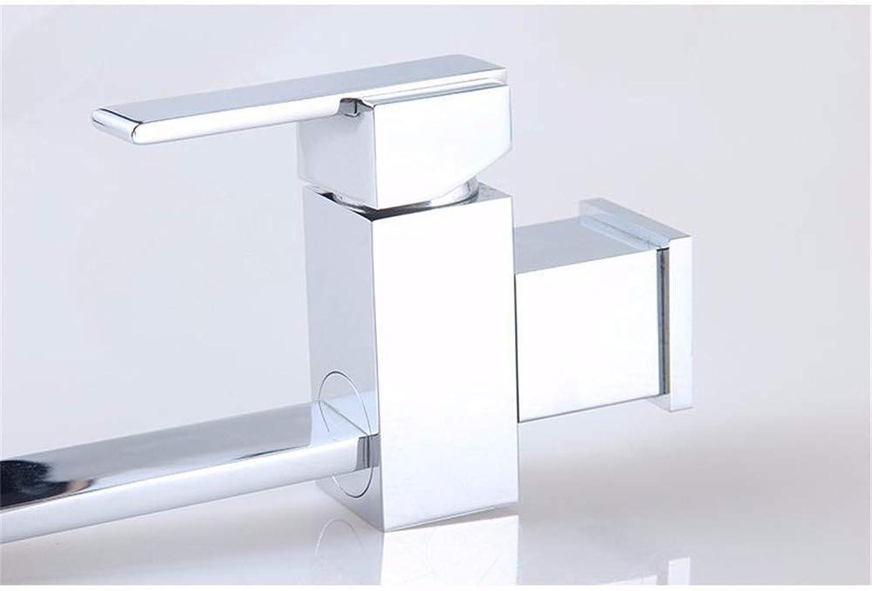 Pyty123-Faucet Hahn Heie Und Kalte Küchenspüle Einzelner Bleifreier Kupferquadrat 7 Wortdrehhahn