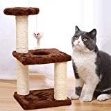 Toianshm Cat Tree Condo Furniture Kitten Activity Tower Pet Kitty Play House with Scratching Sisal Posts - Easy Style