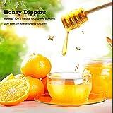 Fdit 50 Pcs/Satz Haushalt Holz Tragbare Mini Marmelade Honig Dipper Jar Dispensing Sammeln Rührstab Stick Mino Dispense Drizzle Honig(8CM) - 3