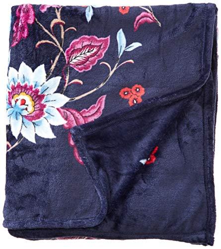 Vera Bradley Fleece Plush Throw Blanket, Mayfair in Bloom, 80' x 50'