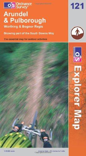 OS Explorer map 121 : Arundel & Pulborough
