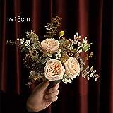 SPFOZ Artificielle Parfum Floral Rose Ensemble Salon de Fleurs séchées Décoration de Table Ornements Modélisation réaliste 3 Couleurs séchées Bouquets (Color : Pink)