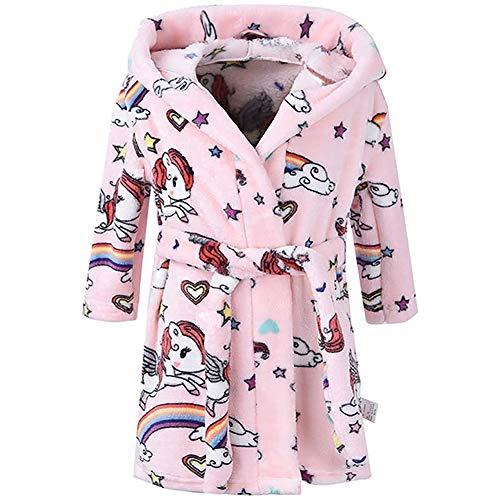 Plush Soft Coral Fleece Animals Hooded Sleepwear for Kids Boys /& Girls Bathrobes