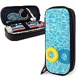 HFHY Federmäppchen Cool Blue Refreshing Swimming Pool Große Kapazität Pen Bag Große Lagerung