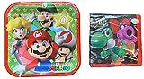 Super Mario Children's Party Bundle of Plates and Napkins Serves 16