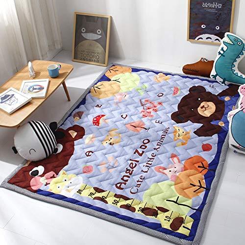 HIL baby-kruipdeken, extra grote dikke antislip baby-kruipdeken, speelmat, slaapkamerspeelmat 140 x 190 cm, zacht wasbaar vloerdekbed
