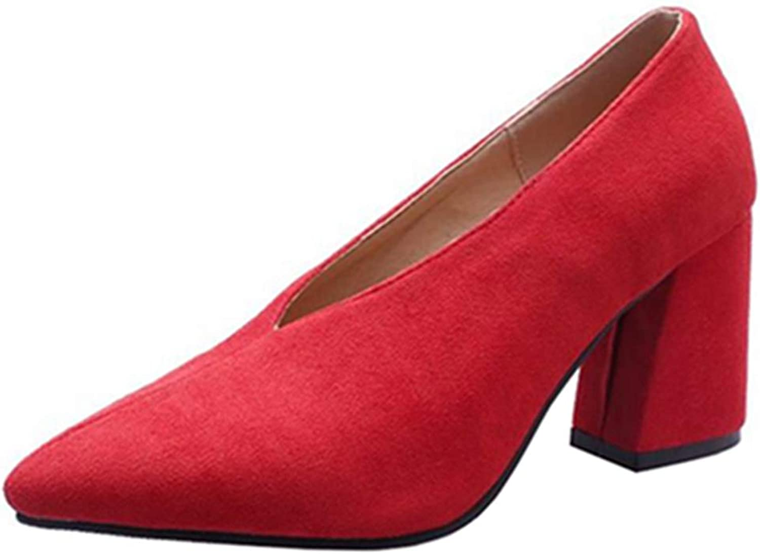 Cocey Women Casual Pumps with Chunky Heel