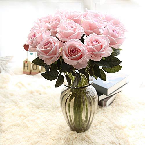 UEVOS Artificielle Fausse /Él/égante Fleur Romantique /éternelle Soie Fleurs Feuille Rose Mariage Bouquet De D/écor Floral(1* Bouquet 9 T/êtes )