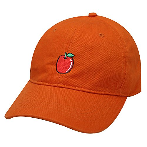 City Hunter C104 Apple Cotton Baseball Dad Cap 19 Colors (Orange)