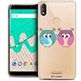 Ultra-Slim Case for 6 Inch Wiko View Max, Love Owls Design