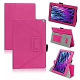 UC-Express Tasche Medion Lifetab S10366 S10365 S10346 Hülle Schutzhülle Cover Tablet Case, Farben:Pink
