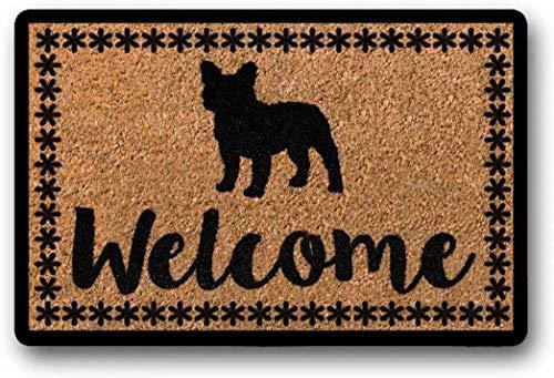 BXBCASEHOMEMAT French Bulldog Doormat - Wedding Gift - Housewarming Gift - Door Mat - Personalized Doormat - Doormat Funny 23.6' x 15.7'