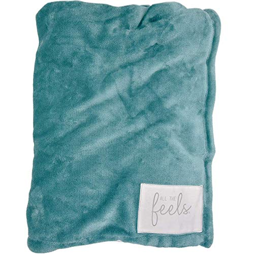 All the Feels Premium Reversible Blanket, Twin, 66x88, Brittany Blue Blanket, Super Soft Cozy Blanket