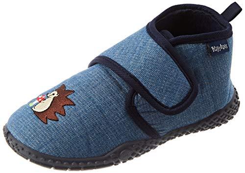 Playshoes Kinder schuhe mit praktischem Klettverschluss,Blau (jeansblau 3),26/27