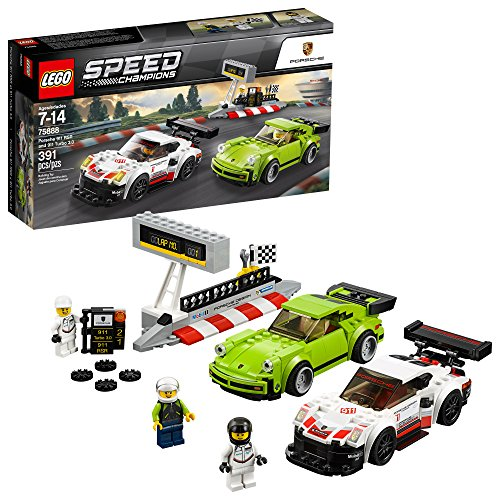 LEGO Speed Champions Porsche 911 RSR and 911 Turbo 3.0 75888 Building Kit (391 Pieces) (Discontinued by Manufacturer)