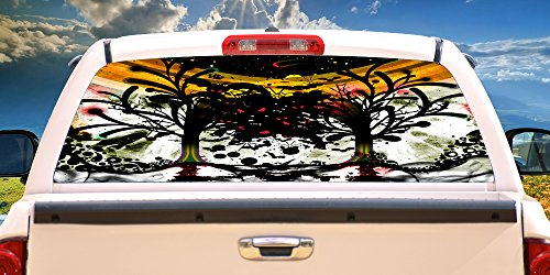 """SignMission Faces of Death Rear Window Graphic Back Truck Decal SUV View Thru, 16"""" X 54"""""""