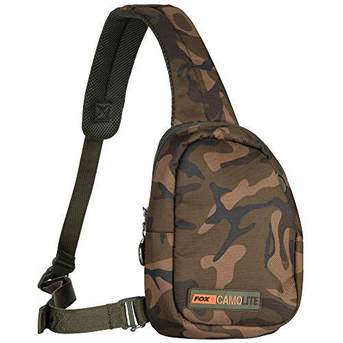 Fox Camolite Shoulder Wallet 17,5x5,5x23cm - Angeltasche zum Karpfenangeln, Schultertasche, Zubehörtasche, Tackletasche für Angelzubehör