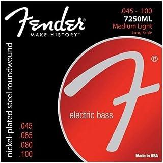 Fender エレキベース弦 7250 Bass Strings, Nickel Plated Steel, Long Scale, 7250ML .045-.100