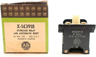ALLEN BRADLEY X-143918 Automatic Reset Magnetic Starter Overload Relay Size 0&1