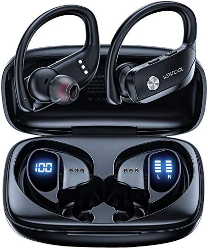 VEATOOL Wireless Earbuds Bluetooth Headphones 48hrs Playtime Sport Earphones with LED Display product image