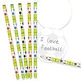 """Baker Ross Bleistift-Set """"Fußball"""" für Kinder – perfekt als kleine Partyüberraschung für Kinder (6 Stück)"""
