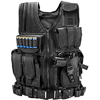 Marmot Tactical Vest Durable Mesh Vest with Detachable Belt & Holster for Subcompact/Compact/Standard Pistol