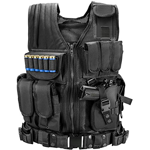 MARMOT Tactical Vest Durable Mesh Vest with Detachable Belt &