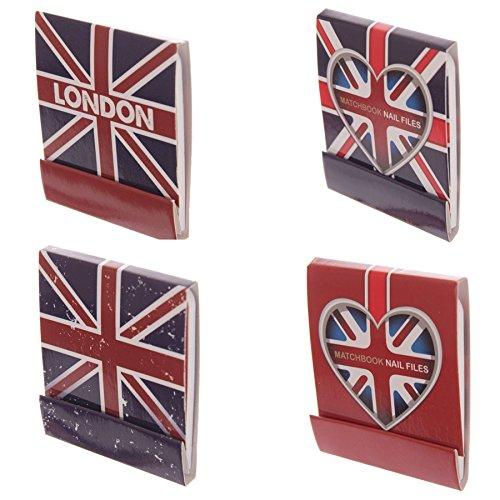Londres Livres ongles match de fichiers - Ensemble de 4 à 1 de chaque modèle